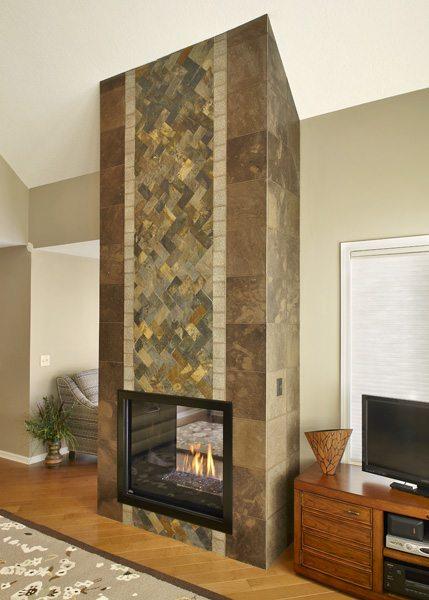 Brandon Lake Cottage Fireplace