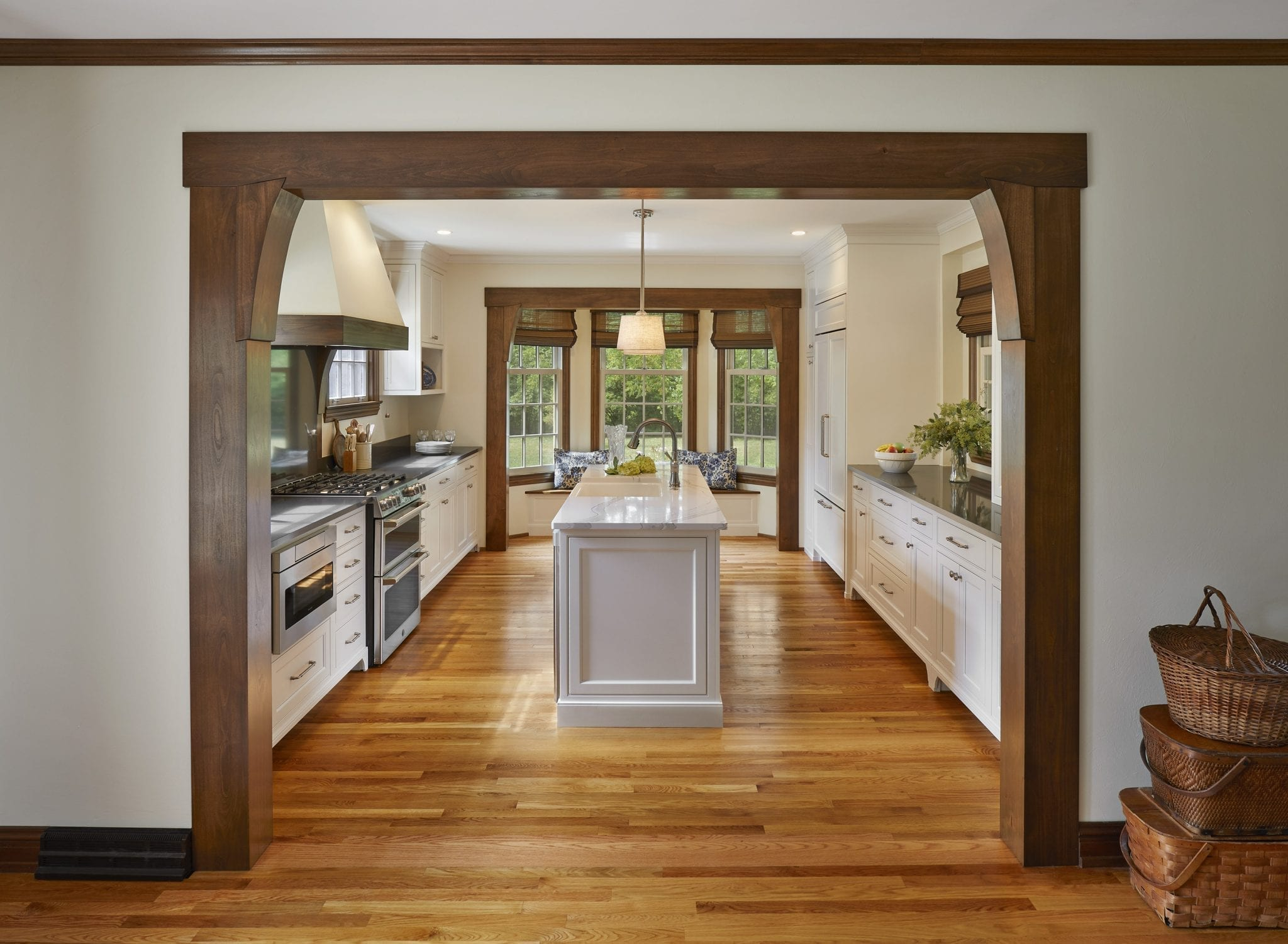 Custom Beams in Kitchen